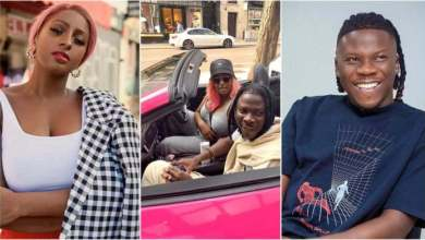 Photo of Video – See How Stonebwoy N Dj Cuppy Cruises In Town With Her New Ferrari Portofino