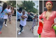 Photo of Lady Beats Akuapem Poloo In Public For Snatching Her Husband – Video Below
