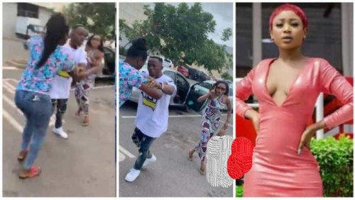 Lady Beats Akuapem Poloo In Public For Snatching Her Husband - Video Below