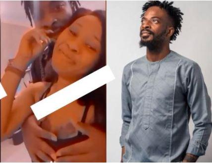 Singer 9ice Seen Pressing Lady's Breasts Like Keyboard - Video