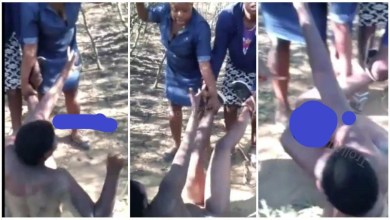 Photo of Slay Queen Beaten By Jealous Wife After Seeing Her Nak3d With Husband – Video