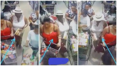 Photo of Lady Caught Pick Pocketing Fellow Woman In A Mall – Video