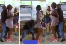 Photo of Man Of God Seen Squeezing Woman's Boobs And Bortoss During Deliverance Service – Video