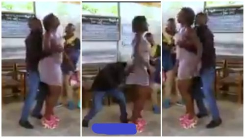 Man Of God Seen Squeezing Woman's Boobs And Bortoss During Deliverance Service - Video