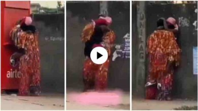 Photo of Naija Masquerade Makes Love With A Hot Lady In Public – Video Will Shock U