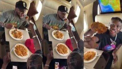 Zlatan Feeding Davido Inside A Private Jet N People R Talking - Video