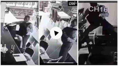 Photo of Guy Captured On CCTV Camera Stealing Inside A Pub – Video