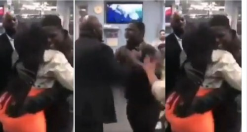 Guy Knock Down Best Friend With A Hard Blow 4 Hugging His Curvy Wife For 1 Minute - Watch Now
