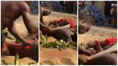 Is This Magic - Men Cut One Another With Cutlass Without Bleeding - Video