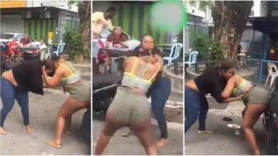 Ladies Fight Dirty With Kicks N Blows Because Of A Guy - Watch Now