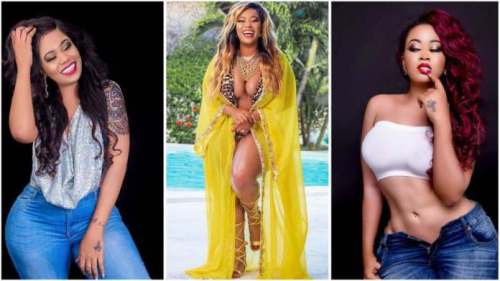 Watch How Vera Sidika Fall On Stage While Entertaining Guests @ A Party - Video