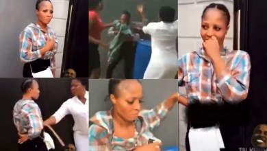 Wife Beats Husbands Side Chick With Belt After Catching Her In Their House With Him - Video