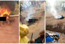 Photo of Guy Burnt 2 Death 4 Allegedly Stealing N2000 In Benue – Watch