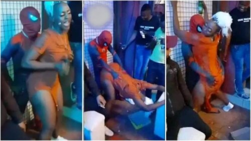 Lady Makes African Spiderman Cry 4 Mercy As She Tw3rks Hard For Him - Video