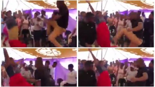 Pastor Kicks Female Church Member In The Belly During Deliverance Hour - Video Below