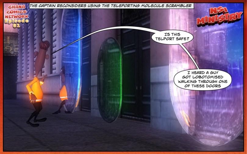 Captain Wobi Black reconsiders using the teleporting molecule scrambler