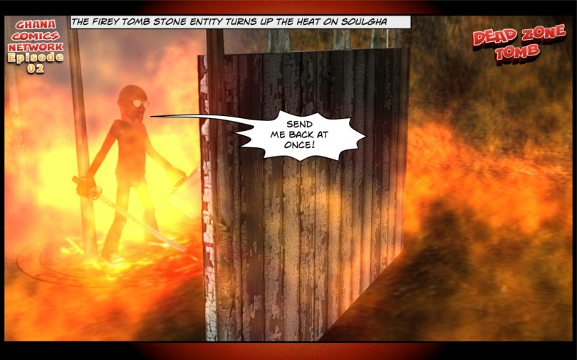 The Firey tomb stone entity turns up the heat on soulgha
