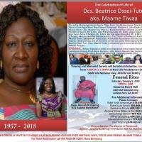 Celebration of the Life of Dcs. Beatrice Ossei-Tutu aka. Maame Tiwaa