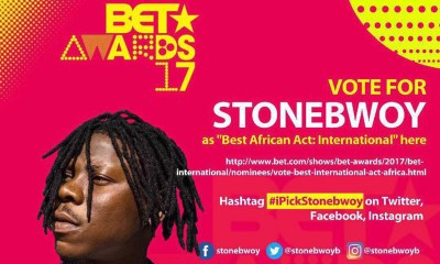 Vote for Stonebwoy @ BET Awards 2017