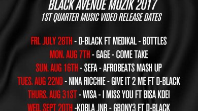 Photo of Black Avenue Muzik drops release dates for music videos