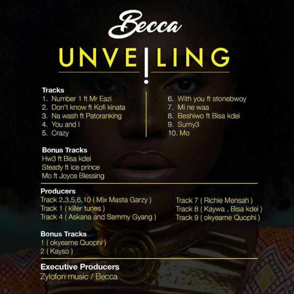 becca unveiling track list