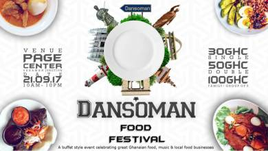 Photo of Two DJs and a buffet of artists at Dansoman Food Festival