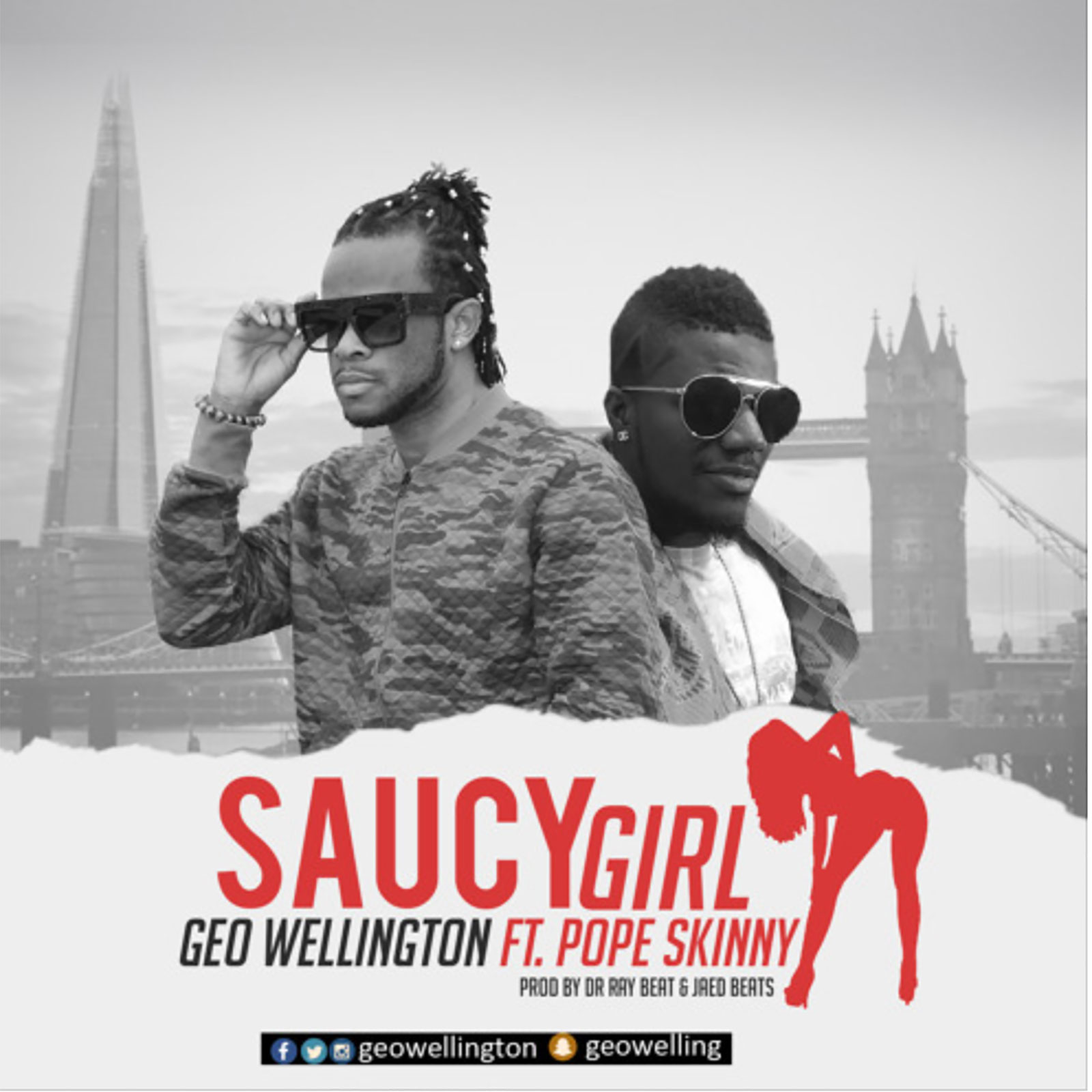 audio saucy girl by geo wellington feat pope skinny ghana music