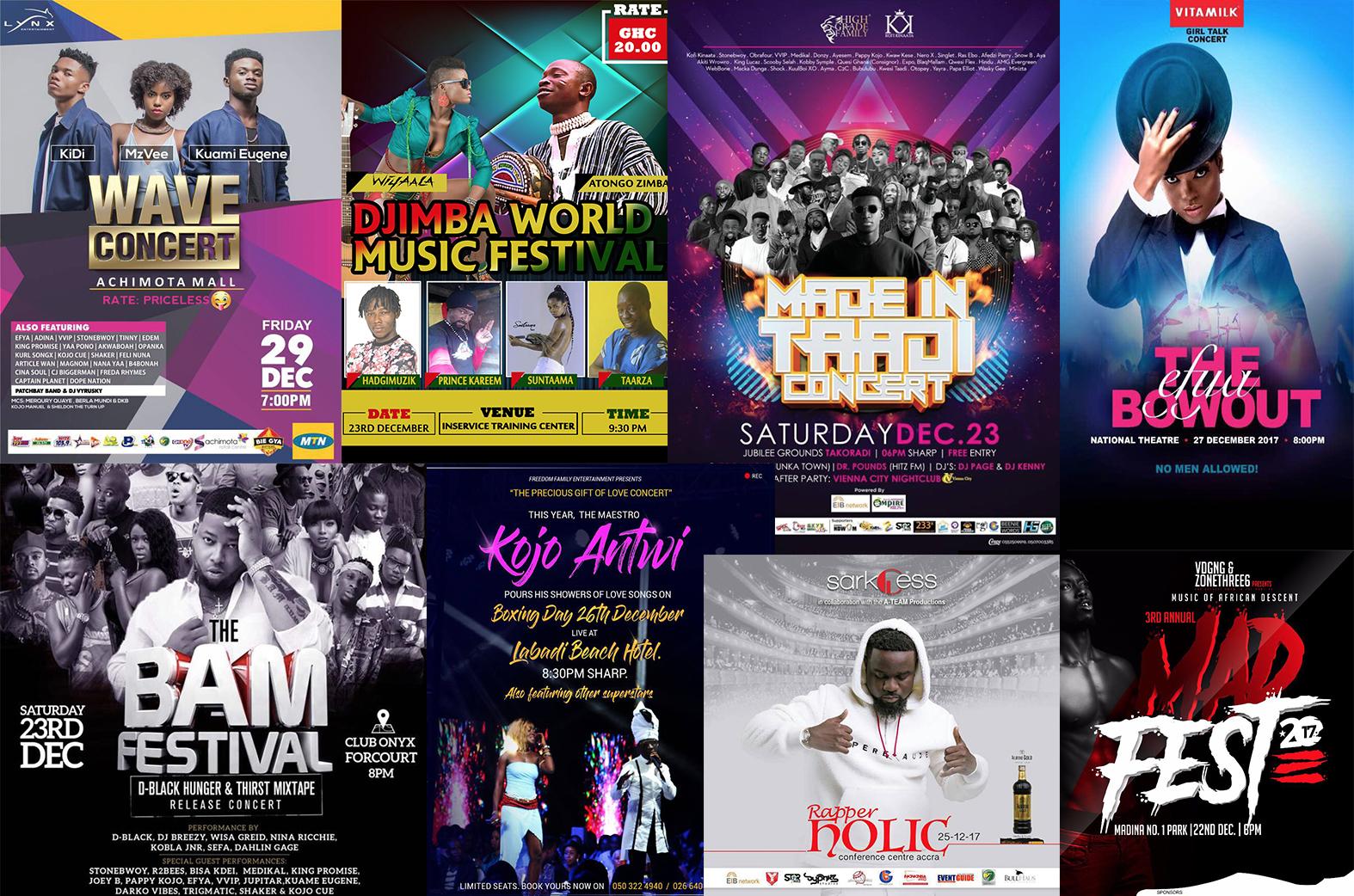 ghana music, rapperholic, bhim concert, xmas events