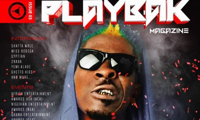 Shatta Wale covers the 3rd Edition of Playbak Magazine