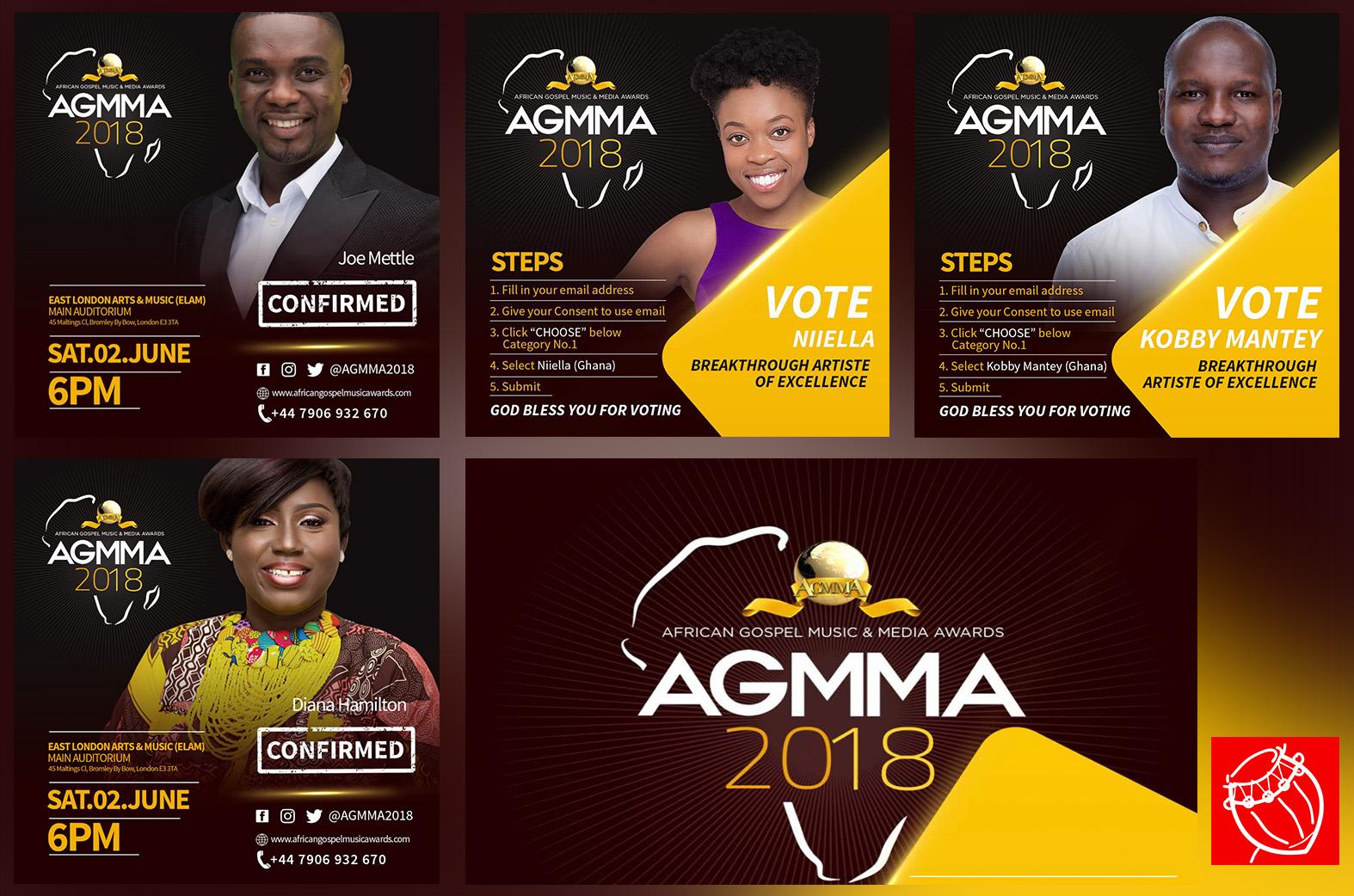 Joe Mettle, Niiella & more nominated for AGMMA 2018