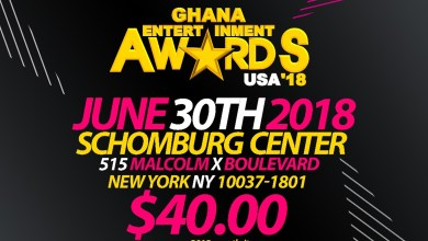 Here are the nominees for the 2018 Ghana Entertainment Awards USA