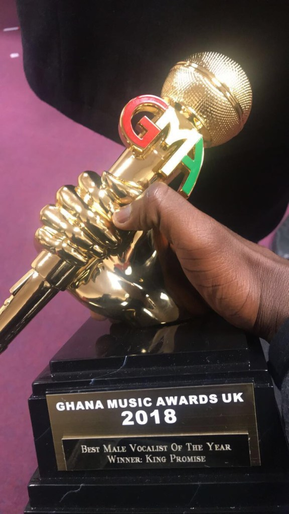 King Promise wins Best Male Vocalist at Ghana Music Awards UK 2018