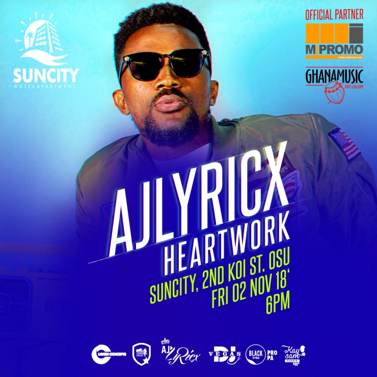 AJLyricx' HeartWork train stops over at Suncity Apartments this Friday