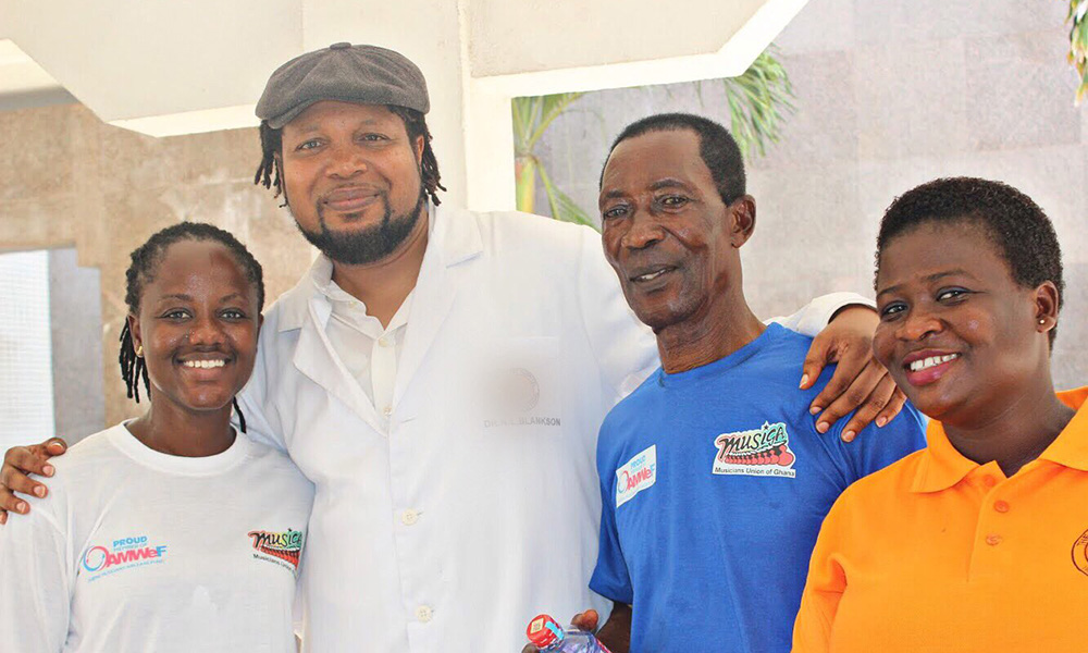 Knii Lante doctors Pat Thomas, AB Crentsil, others at MUSIGA health screening