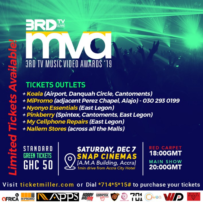 Tickets outlets announced for 3RD TV Music Video Awards '19