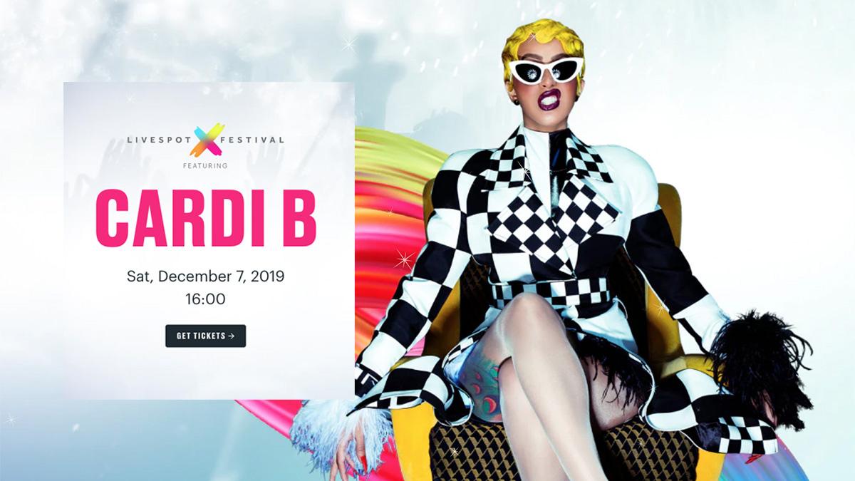 Cardi B set to invade Ghana for the Livespot X Festival