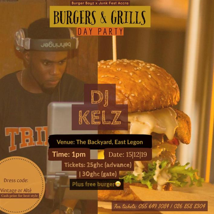 DJ Kelz will be on the menu at the Burgers & Grill day party