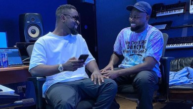 Photo of Sarkodie records with MOG, Possigee in UK's Redbull studio; releases teaser