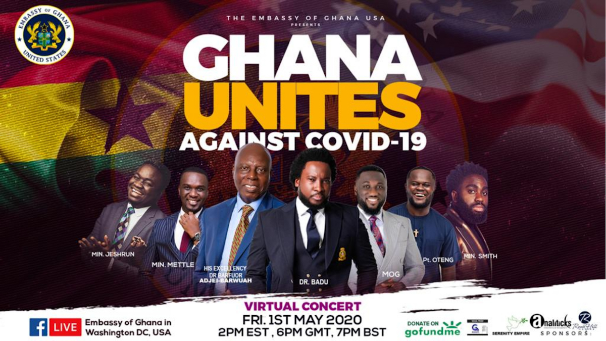 Embassy of Ghana-USA & Sonnie Badu to thrill fans with; Ghana Unites Against COVID-19 Virtual Concert