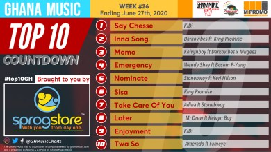 Photo of 2020 Week 26: Ghana Music Top 10 Countdown