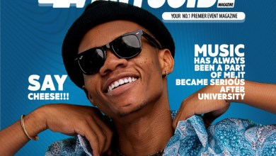 Photo of KiDi eulogised on cover of Eventguide Magazine