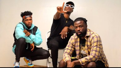 Photo of E.L hosts Kwame Dame, Dr. Laylow, Tradey in visuals for; Change My Story