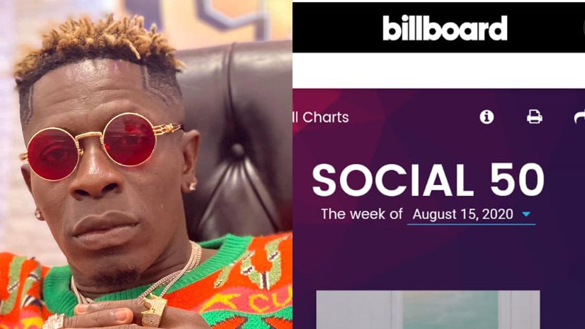 Shatta Wale charts in yet another Billboard Social 50 list