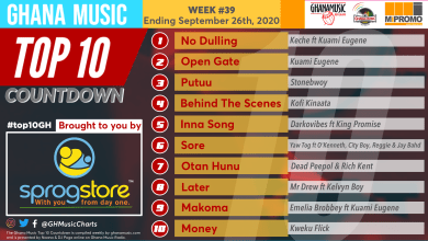 2020 Week 39: Ghana Music Top 10 Countdown