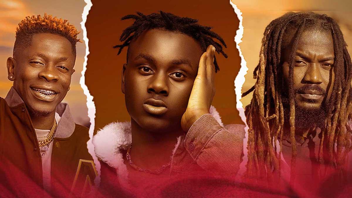 "Larruso unites Shatta Wale & Samini on ""Gi Dem Remix""; Stonebwoy reacts"