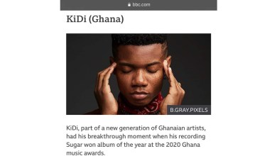 "KiDi grabs spot in BBC's ""10 African music stars to look out for in 2021"""