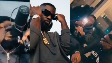 Sarkodie hangs out with Zlatan in UK; records in moving car!