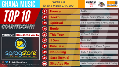 2021 Week 12: Ghana Music Top 10 Countdown