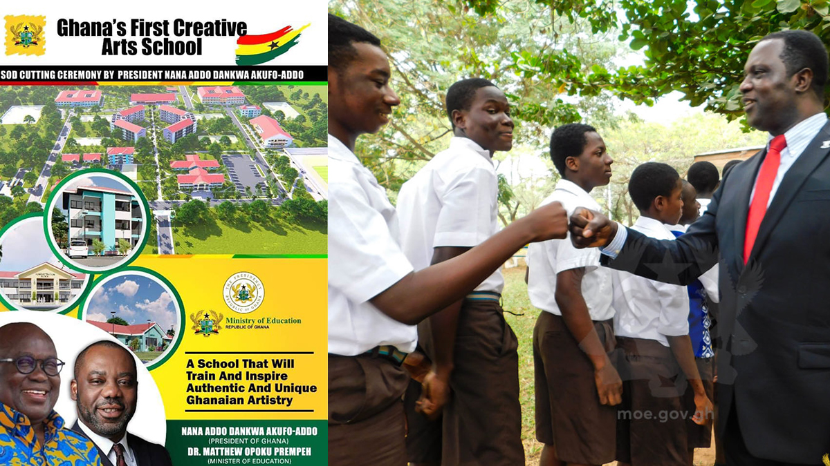 Minister of Education slates 2022 for completion of Ghana's 1st Creative Arts School