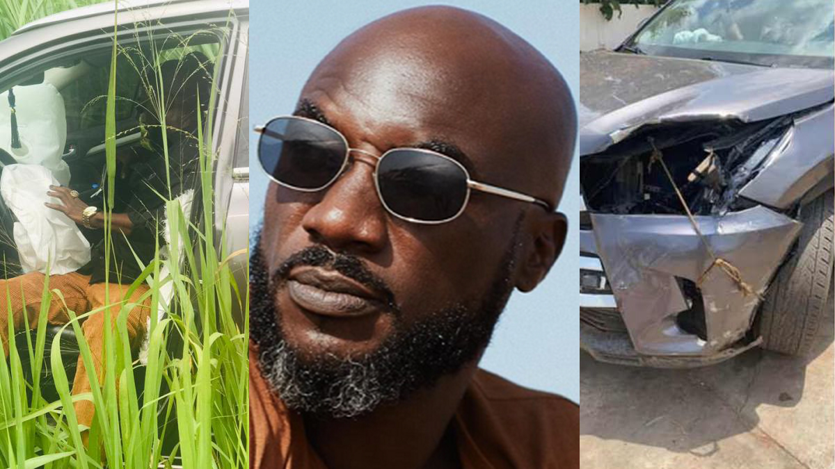 Kwabena Kwabena survives ghastly accident days after comeback with hit single; Kwadede